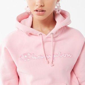 🌸 NWOT Champion Reverse Weave Daisy Pink Hoodie🌸